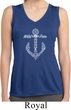 Wild and Free Anchor Ladies Sleeveless Moisture Wicking Shirt