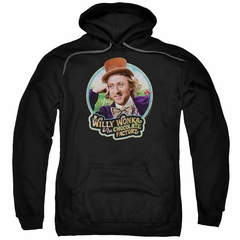 Willy Wonka and The Chocolate Factory  Hoodie Its Scrumdiddlyumptious Black Sweatshirt Hoody