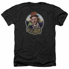 Willy Wonka and The Chocolate Factory Shirt Its Scrumdiddlyumptious Heather Black T-Shirt