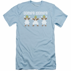 Willy Wonka and The Chocolate Factory  Slim Fit Shirt Oompa Loompa Light Blue T-Shirt