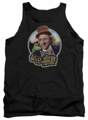 Willy Wonka and The Chocolate Factory  Tank Top Its Scrumdiddlyumptious Black Tanktop