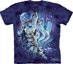 Wolf Shirt Tie Dye T-shirt Find 10 Wolves Adult Tee