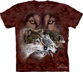 Wolf Shirt Tie Dye T-shirt Find 9 Wolves Adult Tee