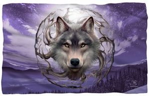 "Wolf Spirit Microfiber Fleece Blanket - 36"" X 58"""