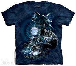 Wolves Shirt Wolves barking at the Moon T-shirt Tie Dye Adult Tee