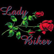Womens Biker Shirts - Lady Biker Rose Tee
