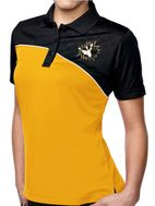 "Womens ""Crashing Bowling Pins Patch"" Polo Shirt"