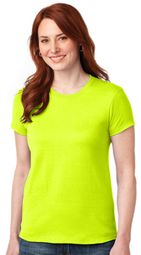Womens High Visibility Outdoor T-shirt - Safety Green