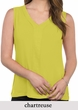 Womens Premium Sleeveless V-neck Blouse