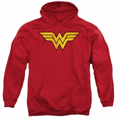 Wonder Woman Hoodie Logo Red Sweatshirt Hoody