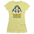 Wonder Woman Juniors T-shirt - Wonder At Large Yellow Tee