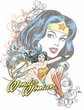 Wonder Woman Juniors T-shirt - Wonder Scroll White Tee