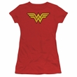 Wonder Woman Juniors T-shirt - Wonder Woman Logo Red Tee