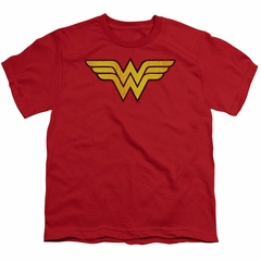 Wonder Woman Kids Shirt Logo Red T-Shirt