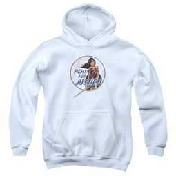 Wonder Woman Movie  Kids Hoodie Fight For Justice White Youth Hoody