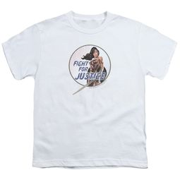 Wonder Woman Movie  Kids Shirt Fight For Justice White T-Shirt