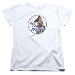Wonder Woman Movie  Womens Shirt Fight For Justice White T-Shirt