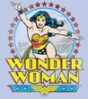 Wonder Woman T-shirt - Star Of Paradise Island Adult Light Blue Tee