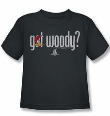 Woody Woodpecker Kids Shirt Got Woody Charcoal Tee T-Shirt