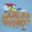 Woody Woodpecker Ladies Shirt Guess Who Light Blue Tee T-Shirt