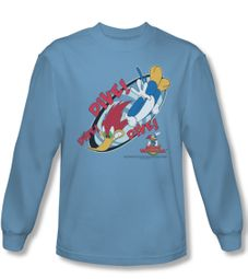 Woody Woodpecker Shirt Dive Carolina Blue Long Sleeve Tee T-Shirt