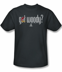 Woody Woodpecker Shirt Got Woody Adult Charcoal Tee T-Shirt