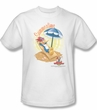 Woody Woodpecker Shirt Summertime Adult White Tee T-Shirt
