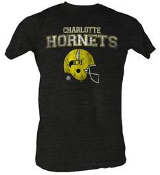World Football League T-Shirt Charlotte Hornets Adult Charcoal Heather