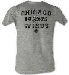 World Football League T-Shirt Chicago Wings Adult Grey Tee Shirt