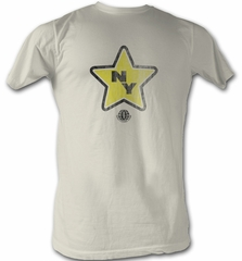 World Football League T-Shirt New York Stars Dirty White Tee Shirt