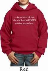 World Revolves around Me Kids Hoodie