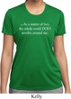 World Revolves Around Me Ladies Moisture Wicking Shirt