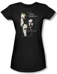 X-Files Shirt Juniors Lone Gunmen Black Tee T-Shirt