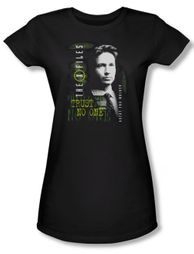 X-Files Shirt Juniors Mulder Black Tee T-Shirt