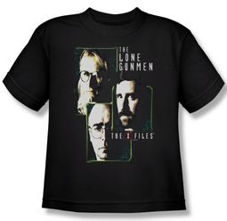 X-Files Shirt Kids Lone Gunmen Black Youth Tee T-Shirt