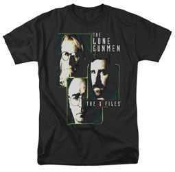 X-Files Shirt Lone Gunmen Adult Black Tee T-Shirt