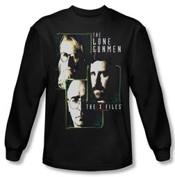 X-Files Shirt Lone Gunmen Long Sleeve Black Tee T-Shirt