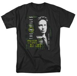 X-Files Shirt Mulder Adult Black Tee T-Shirt
