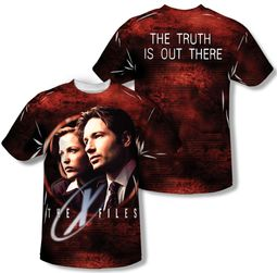 X-Files Truth Seekers Sublimation Shirt Front/Back Print