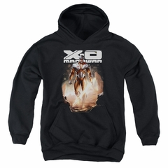 X-O Manowar Kids Hoodie Lightning Sword Black Youth Hoody