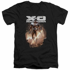 X-O Manowar Slim Fit V-Neck Shirt Lightning Sword Black T-Shirt