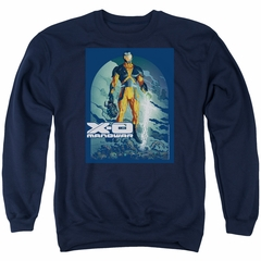 X-O Manowar Sweatshirt Decapitated Adult Navy Sweat Shirt