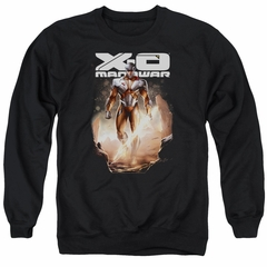X-O Manowar Sweatshirt Lightning Sword Adult Black Sweat Shirt