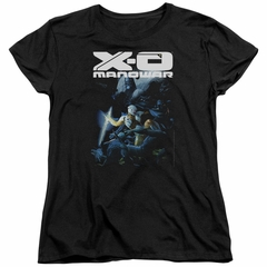 X-O Manowar Womens Shirt By The Sword Black T-Shirt