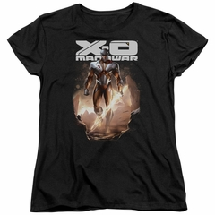 X-O Manowar Womens Shirt Lightning Sword Black T-Shirt