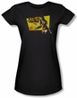 Xena: Warrior Princess Junior Shirt Cut Up Black Tee T-Shirt