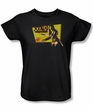Xena: Warrior Princess Ladies Shirt Cut Up Black Tee T-Shirt
