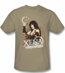 Xena: Warrior Princess Shirt Princess Posing Adult Sand Tee T-Shirt