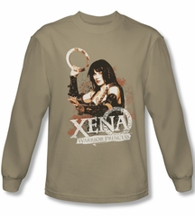Xena: Warrior Princess Shirt Princess Posing Sand Long Sleeve Tee T-Shirt