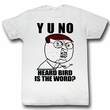 Y U NO Shirt Bird Adult White Tee T-Shirt